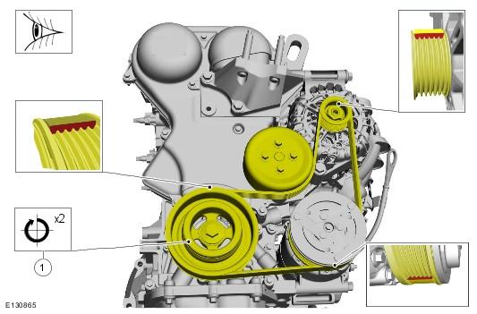 Замена ремень генератора форд фокус 3