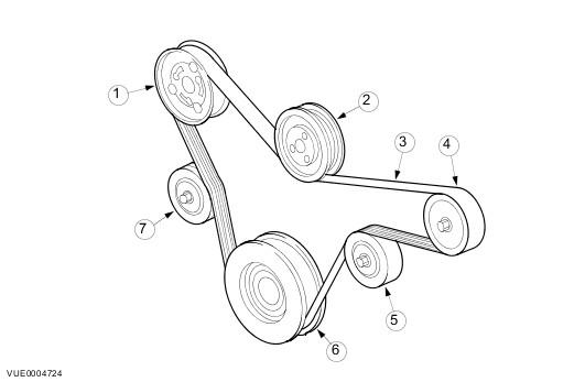Схема ремня генератора на форд фокус 3