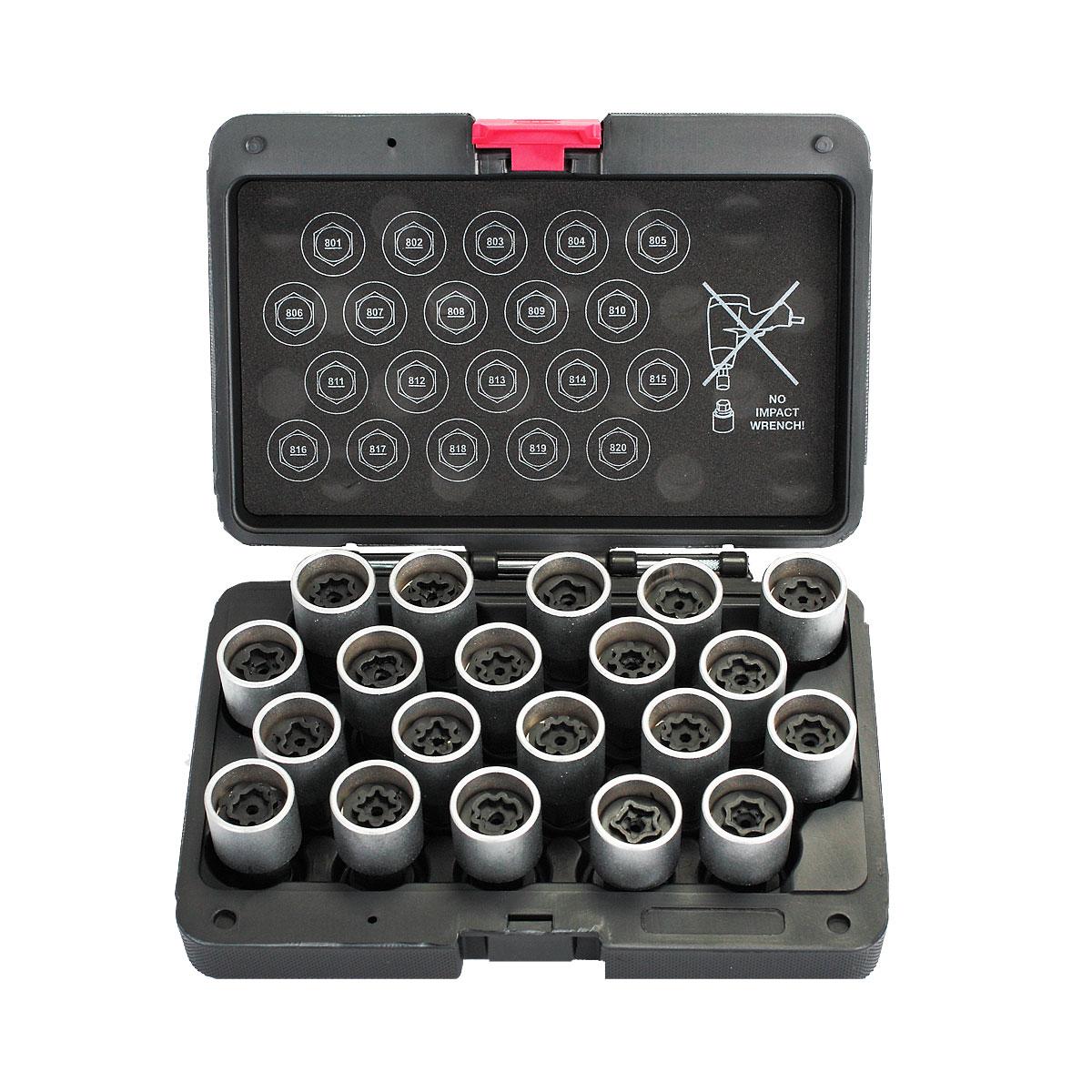 Набор торцевых головок для секретных болтов AUDI Car-Tool CT-F2288