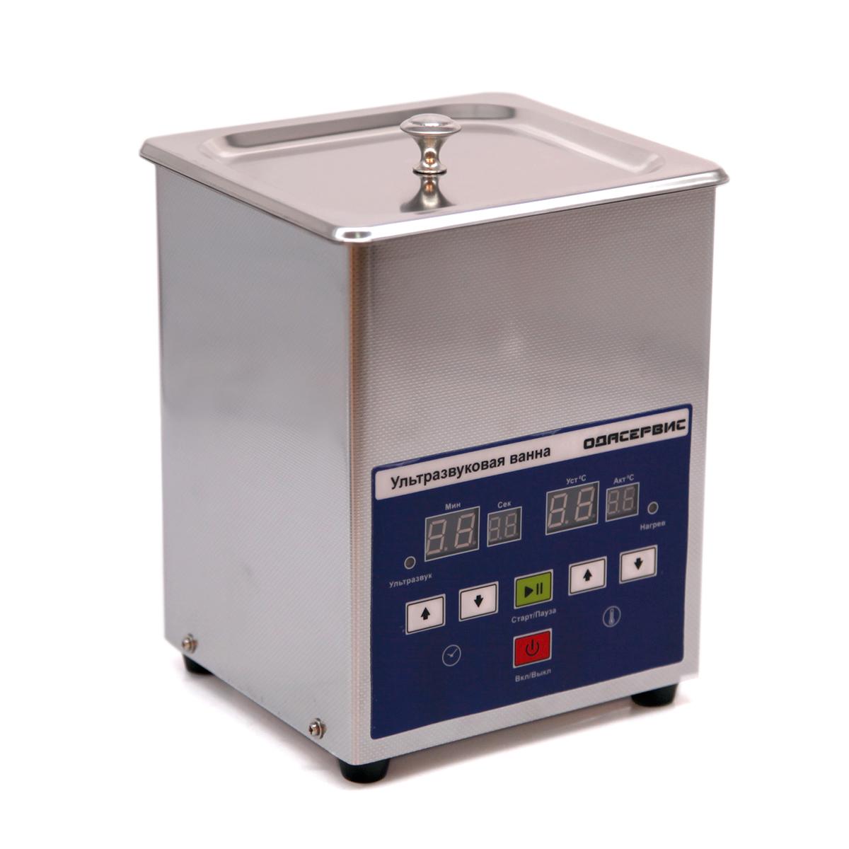 Ультразвуковая ванна с цифровым управлением и подогревом, 1.3 л ОДА Сервис ODA-LQ13