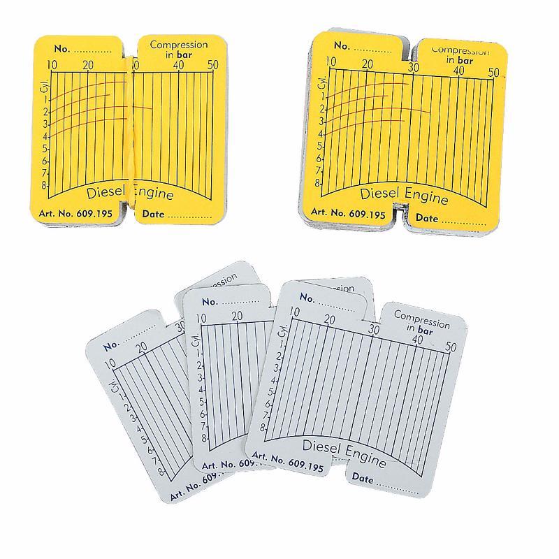 Сменные карточки для дизельного компрессографа CT-Z011 - 100 шт Car-Tool CT-Z011A1