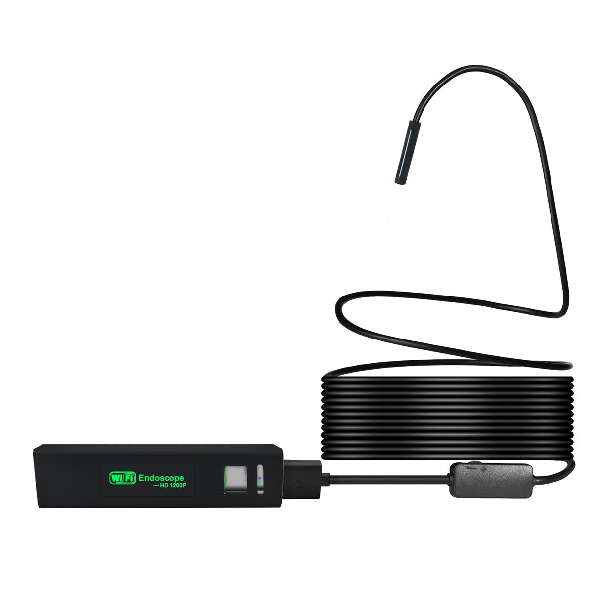 Видеоэндоскоп WIFI, 2Мп, 1600x1200, 5м, 8мм зонд iCartool IC-V110A