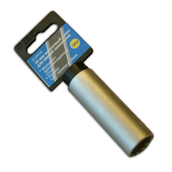 Ключ свечной 16 мм магнитный Car-Tool CT-1147-2A