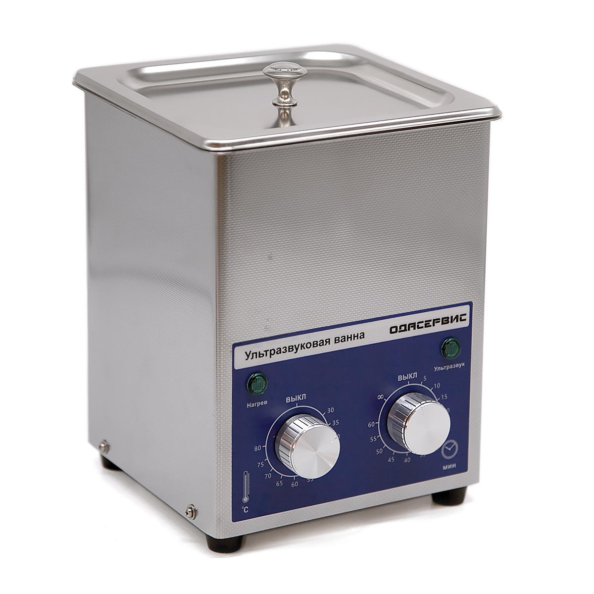Ультразвуковая ванна с механическим таймером и подогревом, 1.3 л ОДА Сервис ODA-MH13