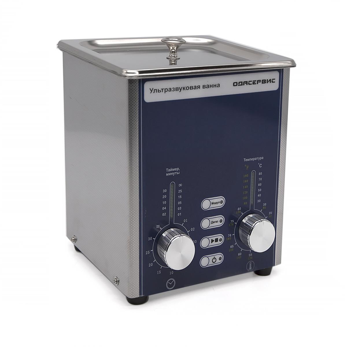 Ультразвуковая ванна с аналоговым управлением, подогревом, дегазацией и модуляцией 2 л ОДА...