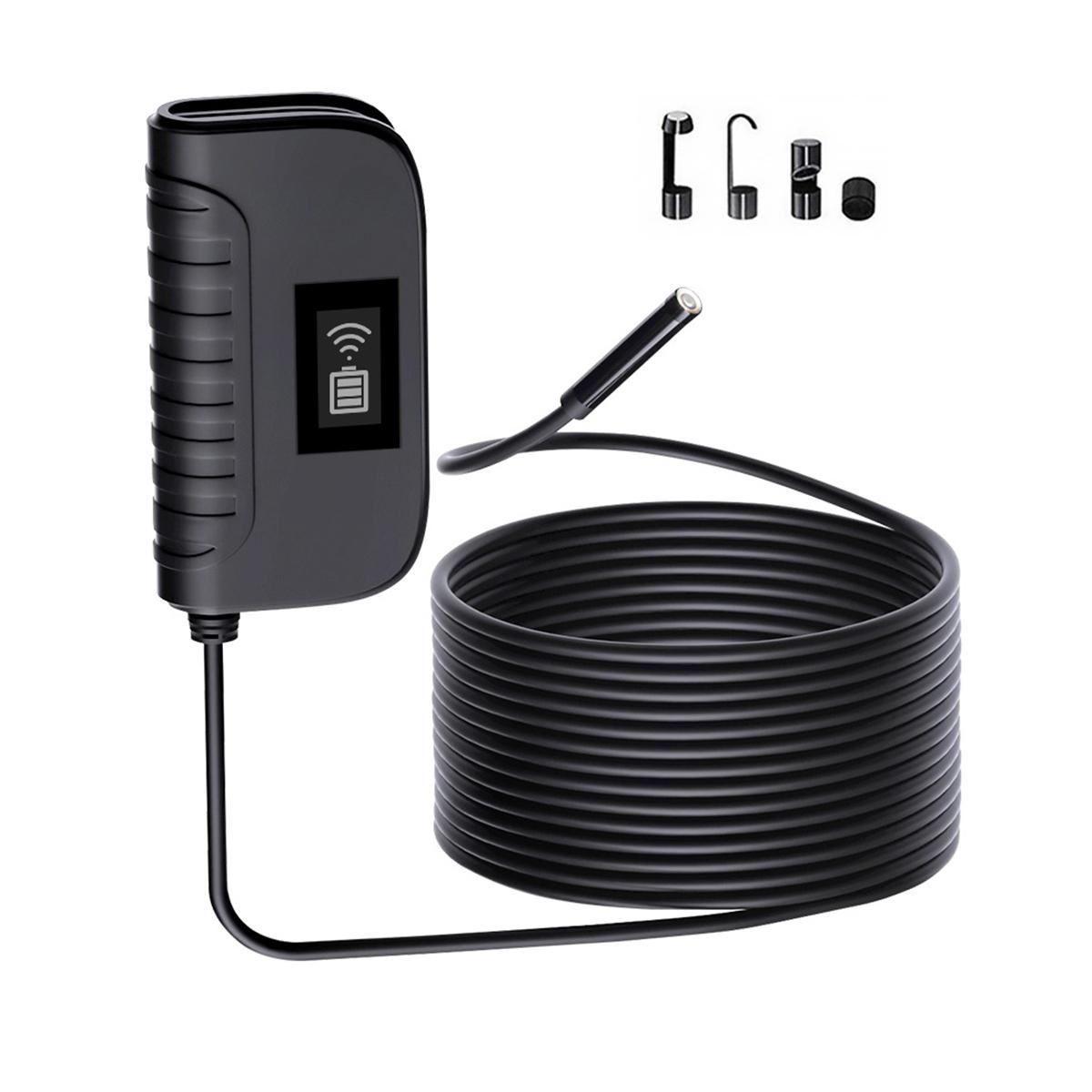 Видеоэндоскоп WIFI, 1Мп, 1280x720, 5м, 8мм зонд iCartool IC-V100