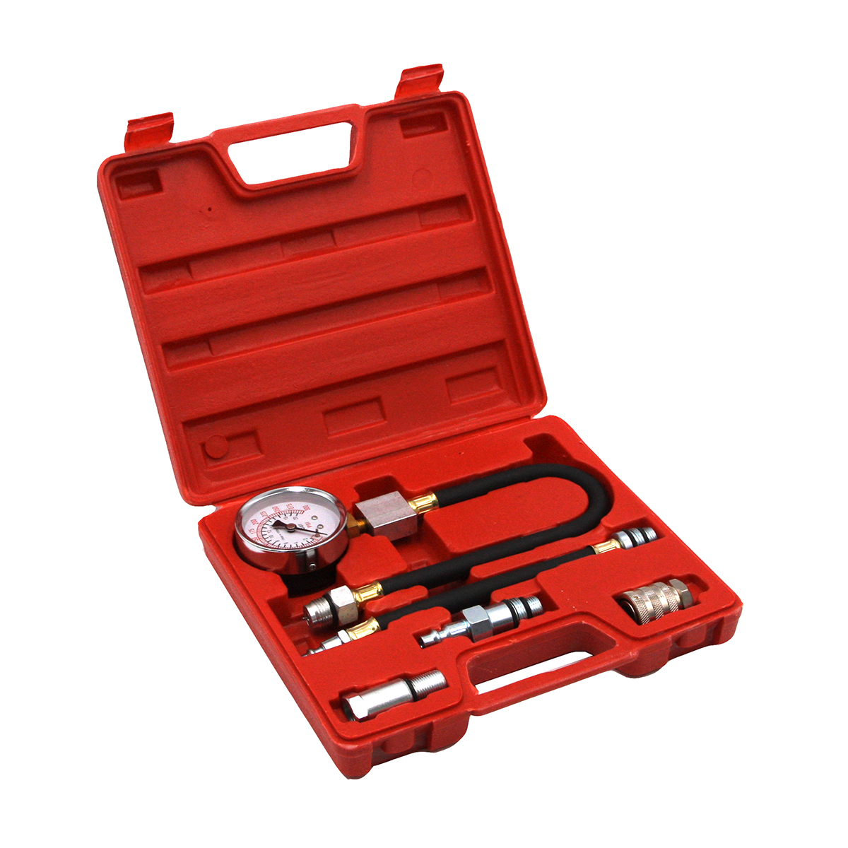 Компрессометр бензиновый с гибкими шлангами и тремя адаптерами Car-Tool CT-N0104