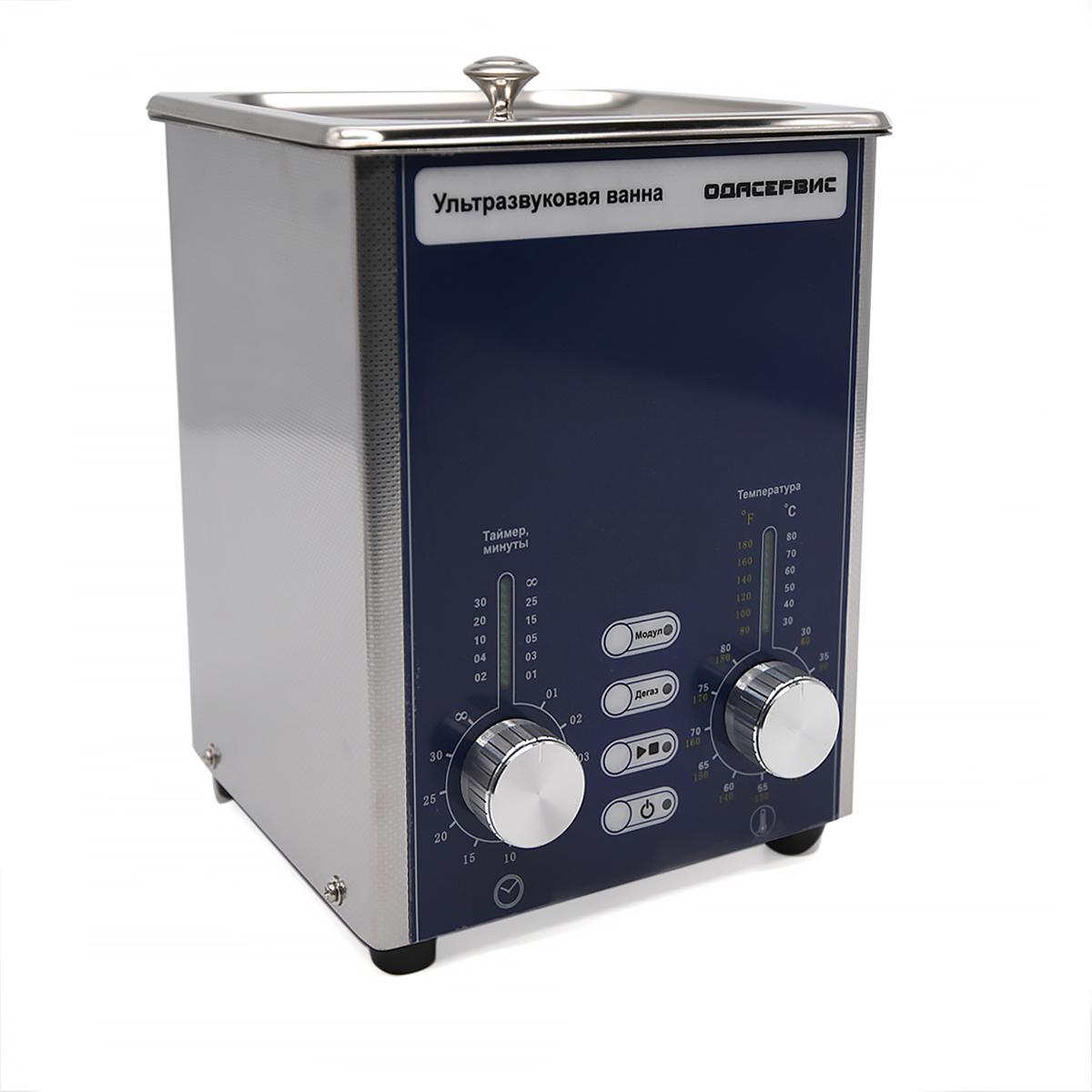 Ультразвуковая ванна с аналоговым управлением, подогревом, дегазацией и модуляцией 1.3 л О...