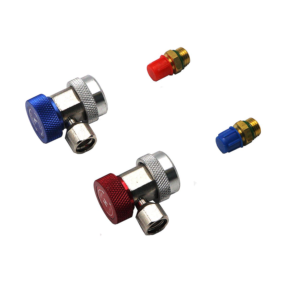 Быстросъемные муфты г-образные с адаптерами, фреон R134A Car-Tool CT-A0104