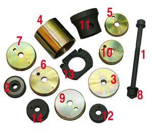 Набор приспособлений специально разработан дляремонта ходовой части автомобилей Мерседес.